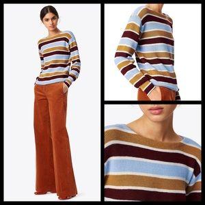 Tory Burch 100% Alpaca Wool Striped Sweater